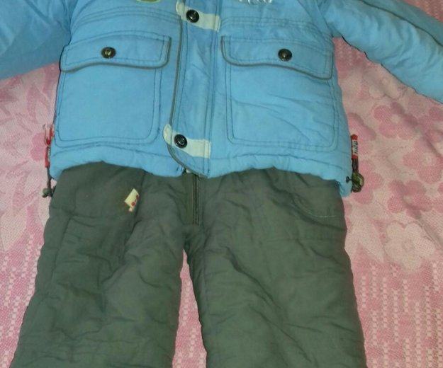 Детская зимняя куртка+ полукомбинезон. Фото 1. Астрахань.