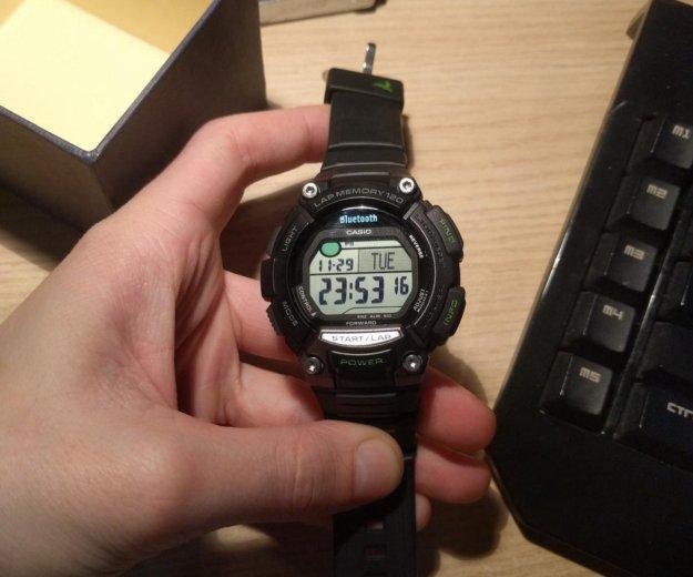 Электронные часы casio bluetooth stb-100. Фото 1. Москва.
