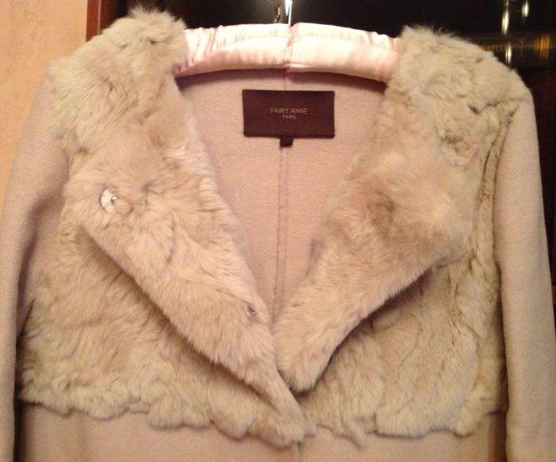 Пальто шерсть с кроликом. Фото 1. Подольск.