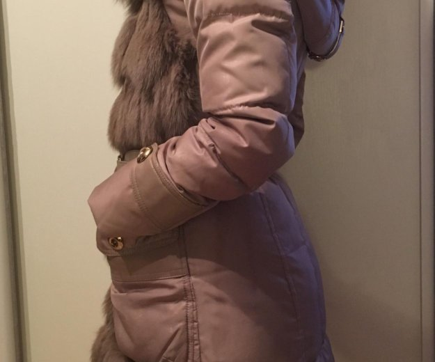 Зимний пуховик с мехом кролика. Фото 3. Москва.