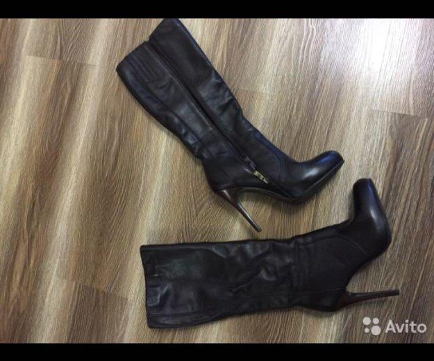Кожаные сапоги(демисезонные). Фото 1. Новороссийск.