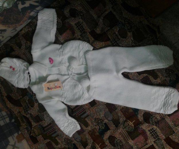 Костюм вязаный новый детский на девочку. Фото 1. Ижевск.