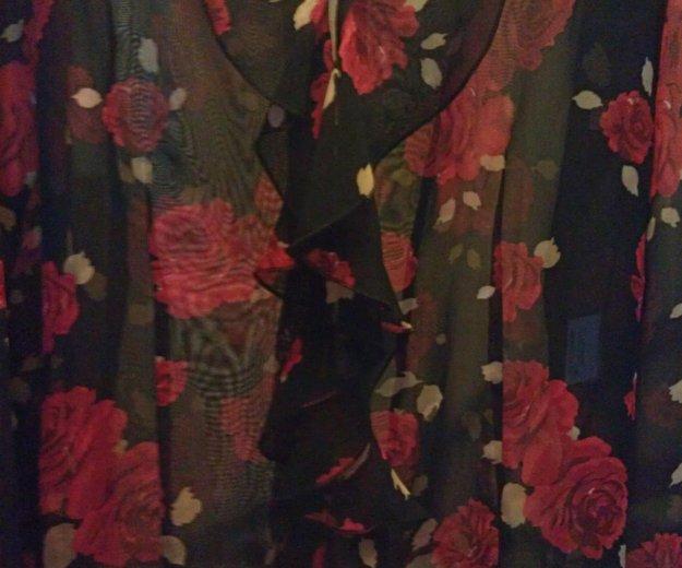 Блузка чёрная с красными розами, vivien caron.. Фото 3. Подольск.