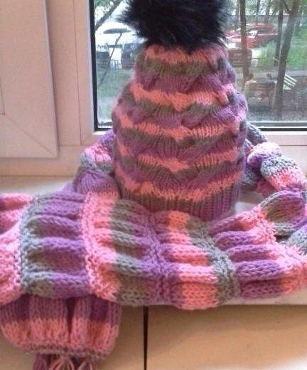 Шапка,шарф,варежки. Фото 2. Москва.