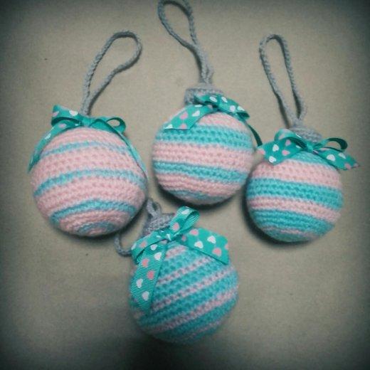 Вязаные елочные шары!. Фото 1. Бронницы.