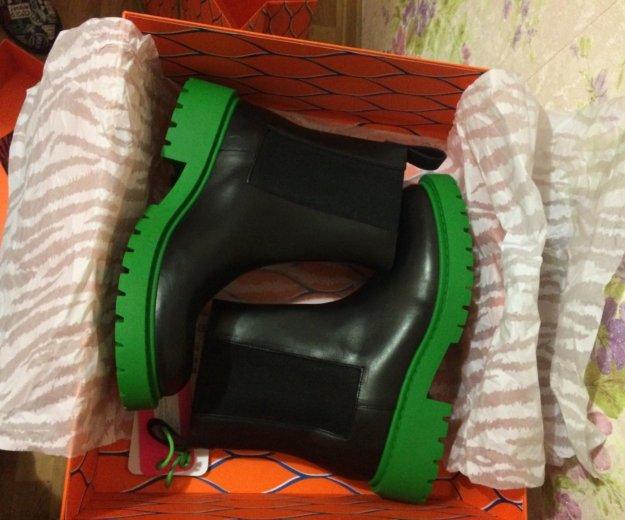 Ботинки кожаные kenzo + h&m. Фото 2. Москва.
