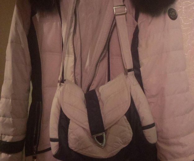 48 размер.зимнее пальто с сумкой. Фото 1. Москва.