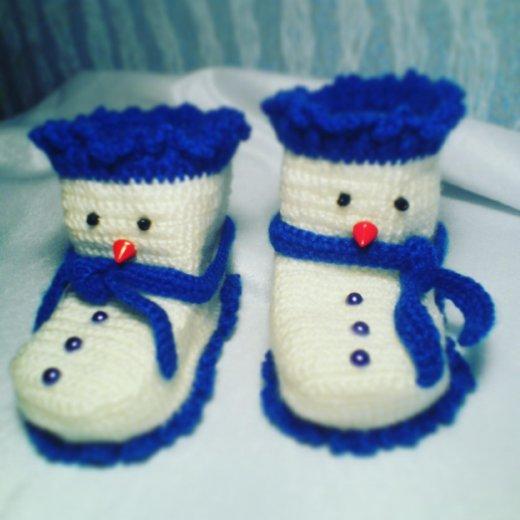 Пинетки снеговики. Фото 1. Смоленск.
