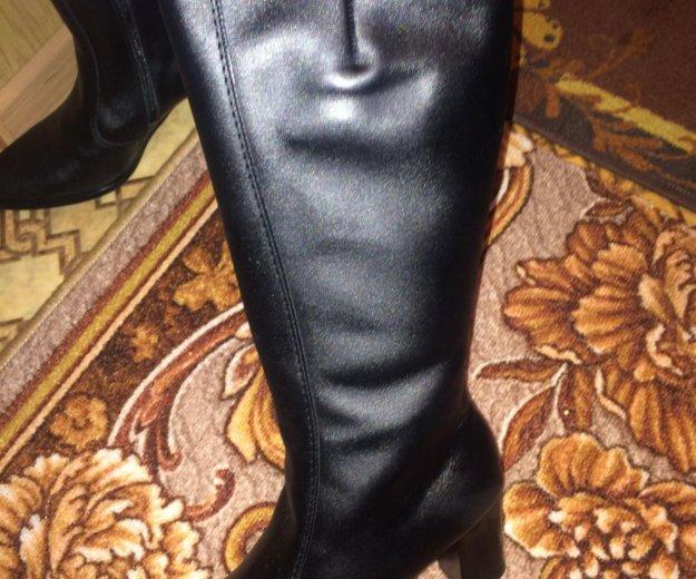 Зимние кожаные сапоги. Фото 1. Хабаровск.