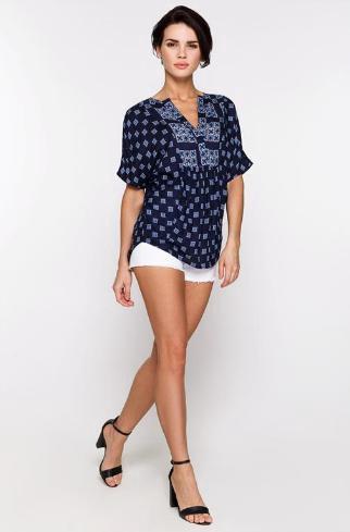 Новая блузка жен. цвет темно-синий. Фото 1. Уфа.