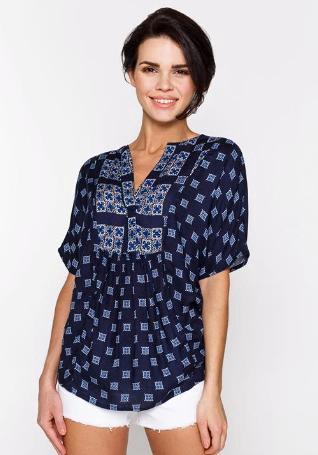 Новая блузка жен. цвет темно-синий. Фото 4. Уфа.