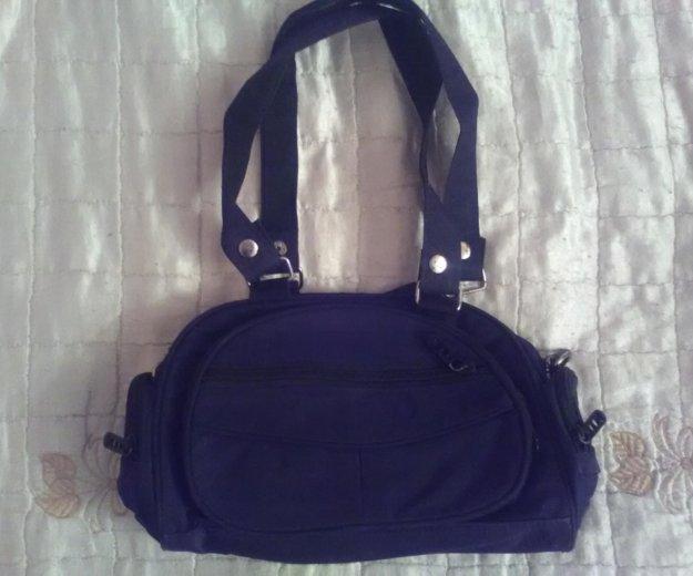 Шлепки + сумка, из больньевой ткани, черные. Фото 2. Москва.