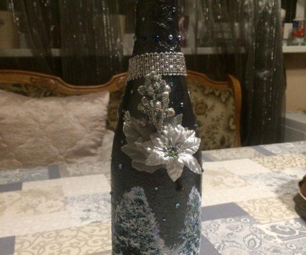 Бутылка (декупаж). Фото 4. Зеленоград.