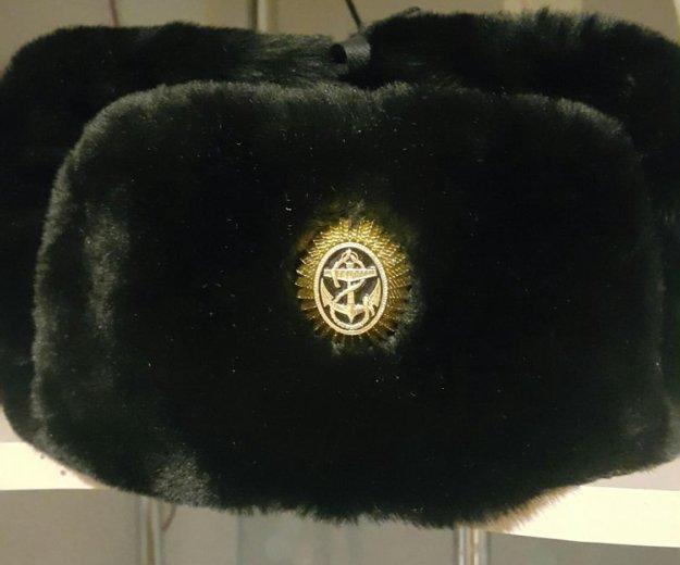 Шапка ушанка с кожанным верхом. Фото 1. Владивосток.