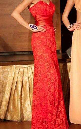 Красное платье в пол. Фото 1. Химки.