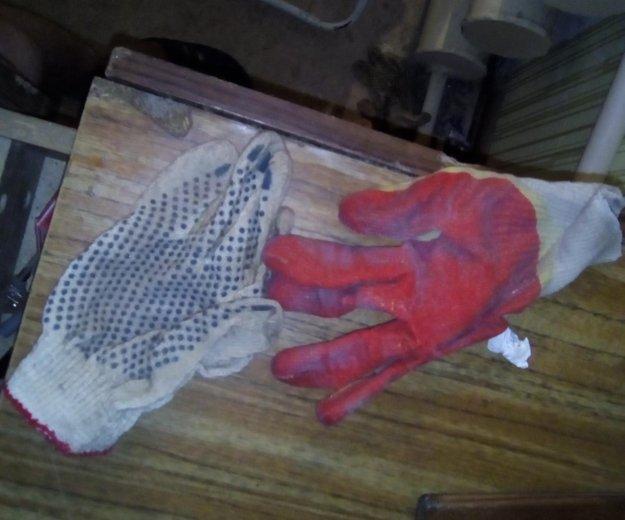 Перчатки хб и прорезиненные новые в упоковке это п. Фото 1. Омск.