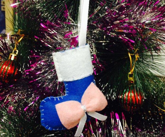 Новогодняя игрушка из фетра. Фото 1. Москва.