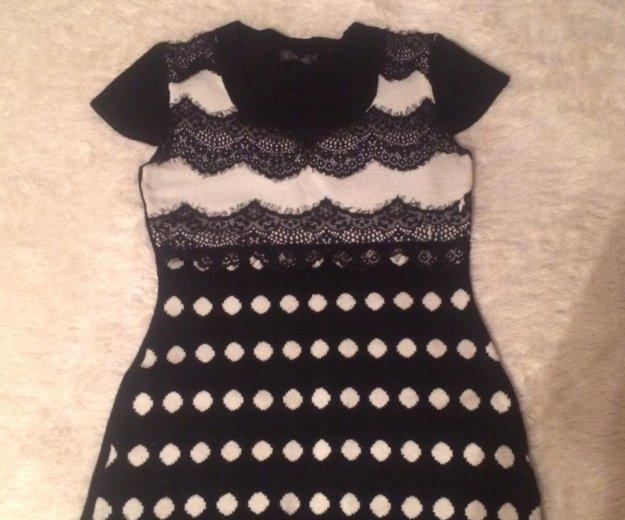 Тёплое трикотажное платье. Фото 1. Иркутск.