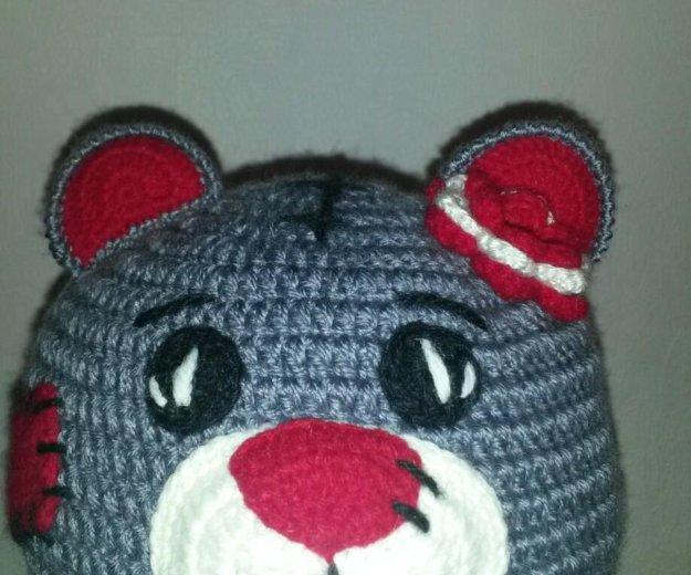Вязаный комплект шапочка и шарф. Фото 3. Борзя.