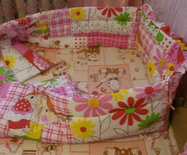 Яркие бортики в кроватку. Фото 1. Чита.