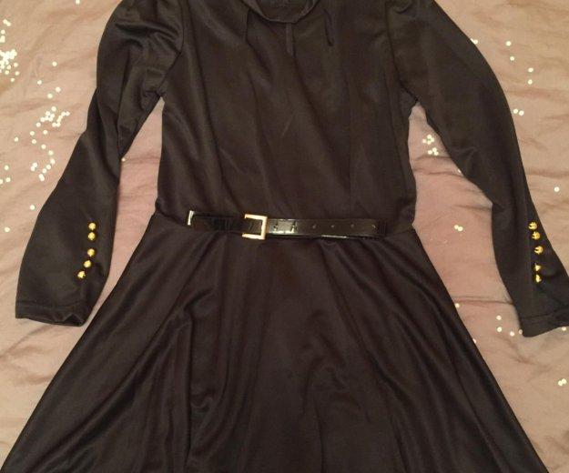 Платье чёрное короткое, р-р 40-42. Фото 1. Хабаровск.