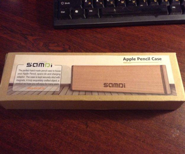 Деревянный футляр для appl карандаша. Фото 1.