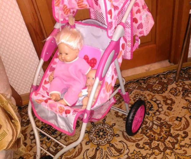 """Коляска для кукол """"guliver"""" с рюкзаком +2 пупса. Фото 3. Нефтеюганск."""