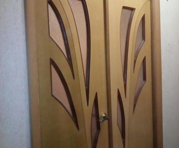 Двустворчатая межкомнатная дверь б/у. Фото 1. Набережные Челны.