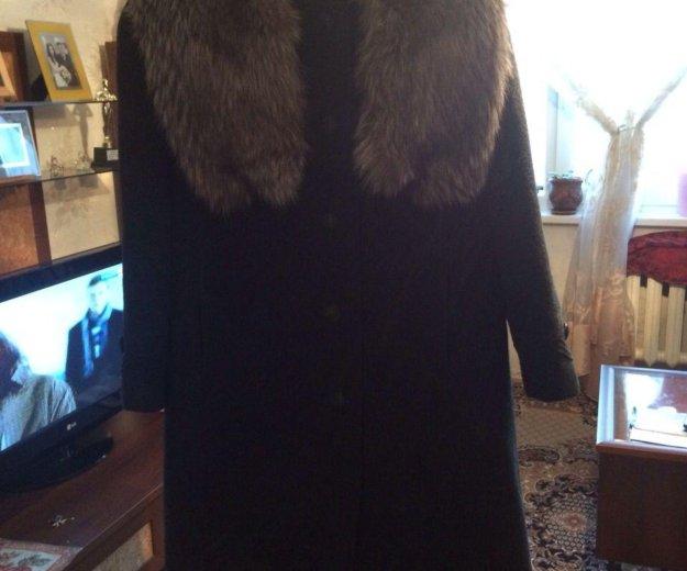 Зимнее пальто (шерсть и натуральный мех). Фото 2. Лысьва.
