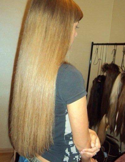 Наращивание волос. Фото 1. Красноярск.
