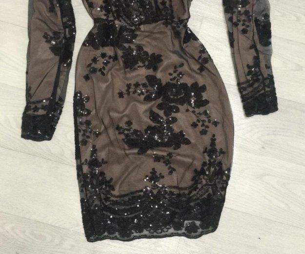 Платье чёрное  в пайетках. Фото 3. Красноярск.