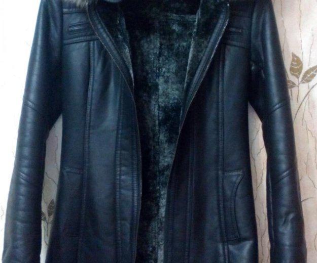 Продам кожаную куртку на натуральной цегейке. Фото 1. Воскресенск.