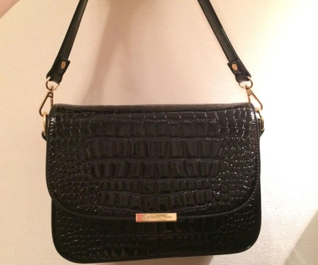 Чёрная лаковая сумка. Фото 4. Ангарск.