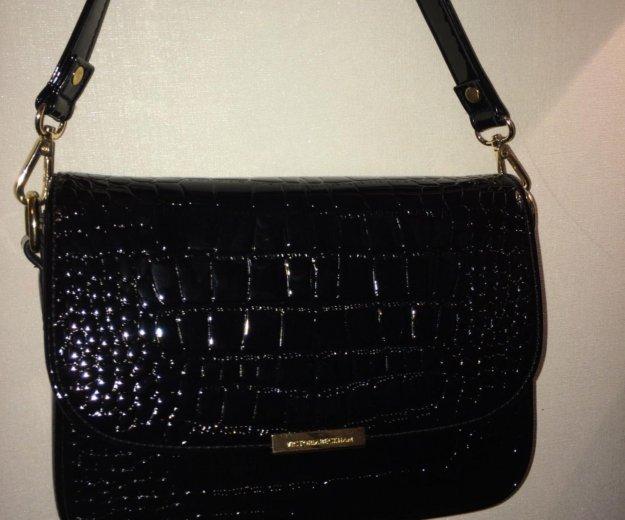 Чёрная лаковая сумка. Фото 3. Ангарск.