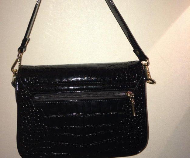 Чёрная лаковая сумка. Фото 1. Ангарск.