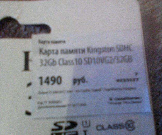 Карта памяти kingston 32gb. Фото 1. Челябинск.