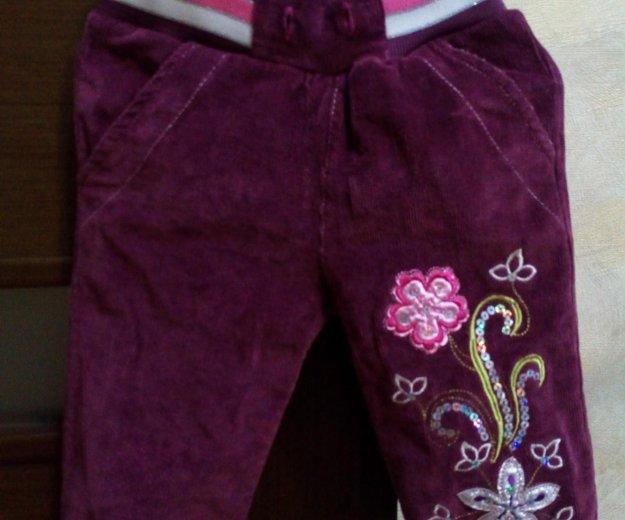 Вельветовые теплые штаны цвета баклажан. Фото 1. Кореновск.