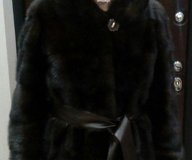 Новая норковая шуба поперечка с капюшоном. Фото 3. Москва.