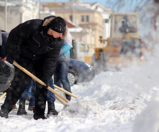 Уборка снега. Фото 4. Пушкино.