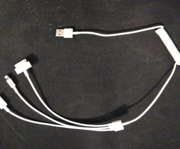 Универсальный usb кабель для зарядки телефон 3 в 1. Фото 1. Омск.
