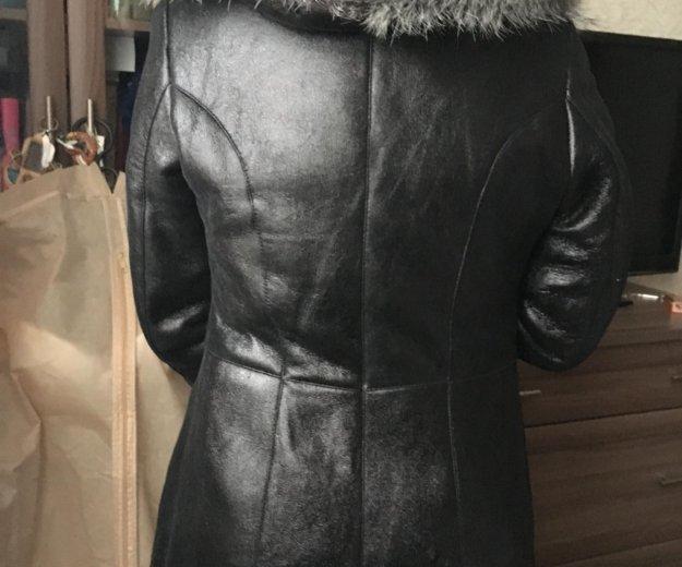 Дубленка чёрная с капюшоном. Фото 3. Москва.