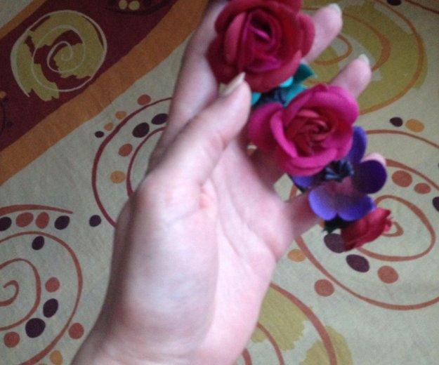 Ободок с цветами на резиночке. Фото 1. Самара.