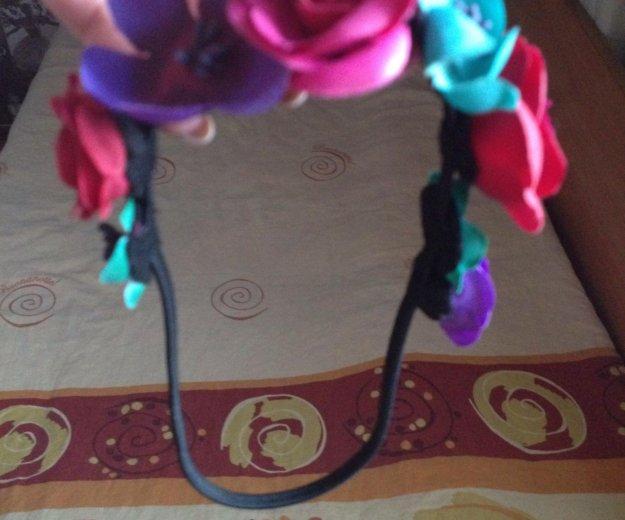 Ободок с цветами на резиночке. Фото 4. Самара.