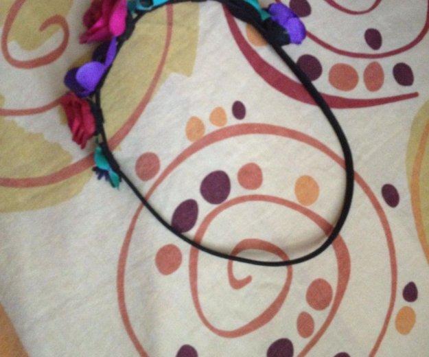 Ободок с цветами на резиночке. Фото 2. Самара.