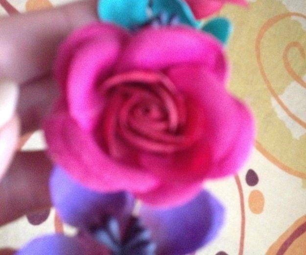 Ободок с цветами на резиночке. Фото 3. Самара.