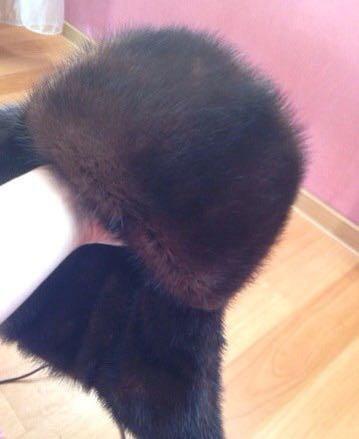 Норковая шапка-ушанка. Фото 3. Новосибирск.