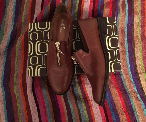 Кожаные ботинки 36р. Фото 1. Москва.