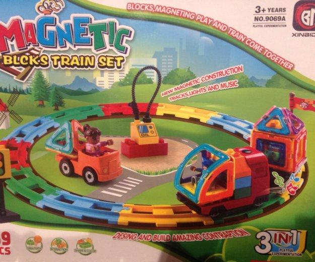 Magnetic train set. Фото 1. Тюмень.