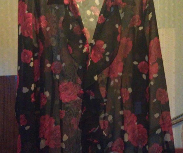 Блузка чёрная с красными розами, vivien caron.. Фото 2. Подольск.