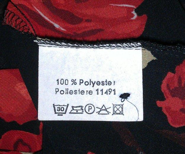 Блузка чёрная с красными розами, vivien caron.. Фото 4. Подольск.